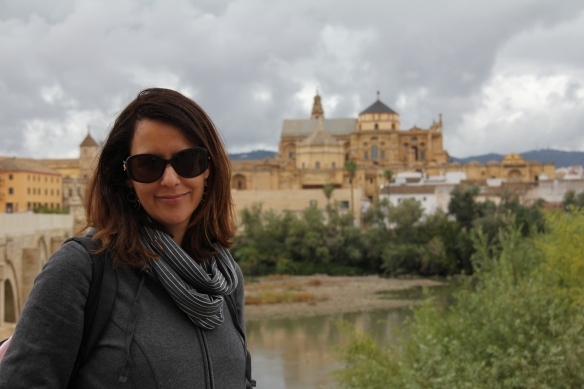 Ronit with the magnificent Mezquita in the background