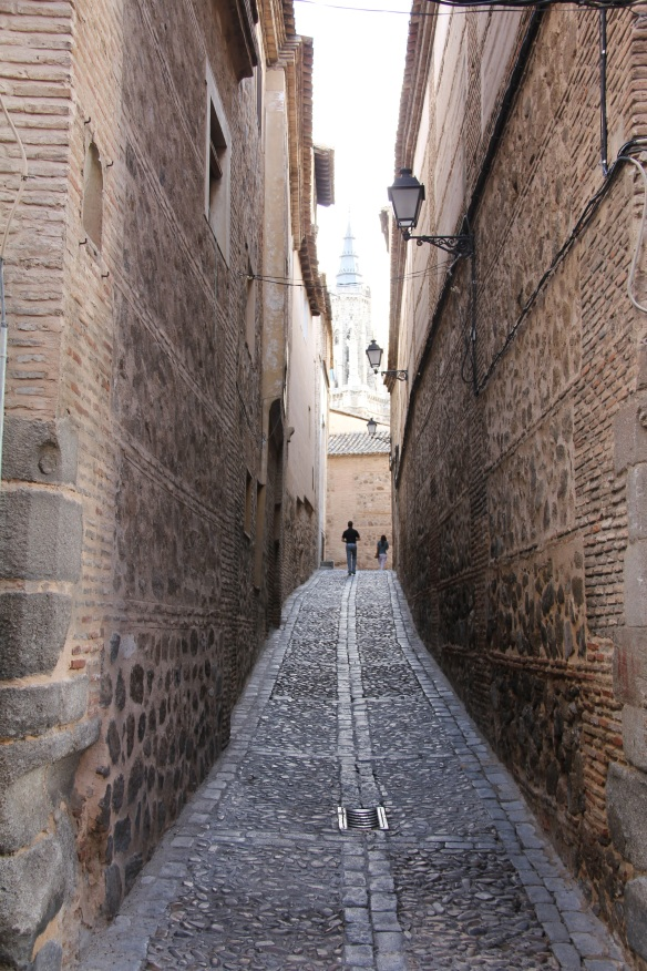 Cobblestone alley in Toledo